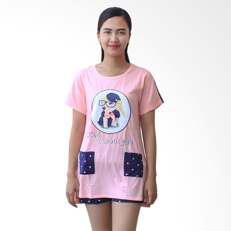 Aily 987 Setelan Baju Tidur Wanita - Pink