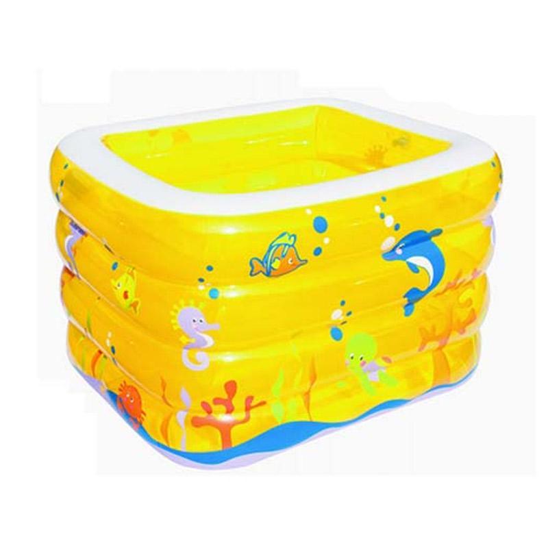 Bestway Baby Pool Kolam Spa Kotak - Yellow