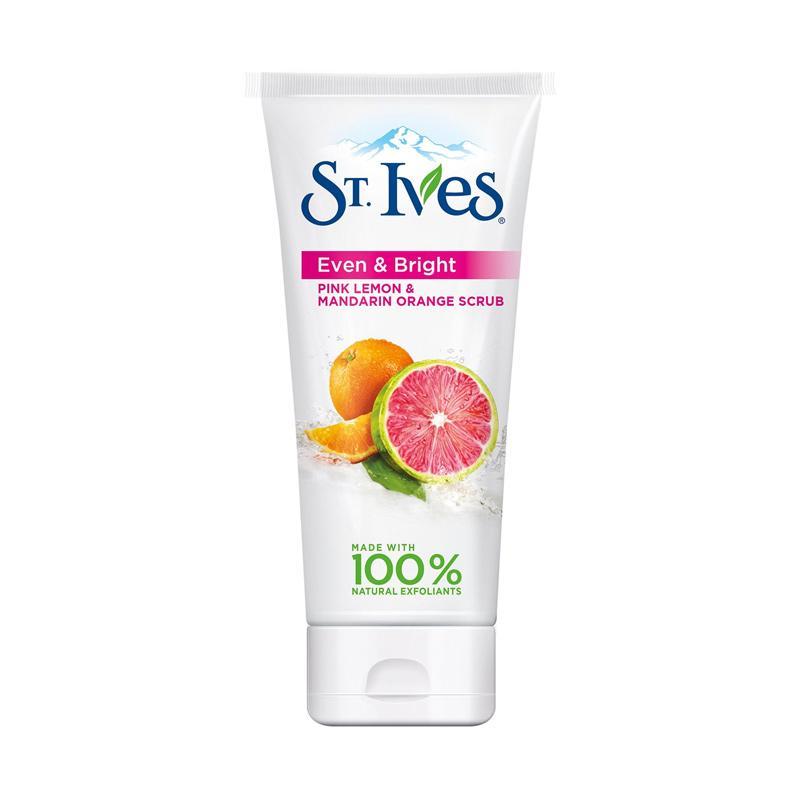 St. Ives Even & Bright Pink Lemon and Mandarin Orange Face Scrub [6 oz]