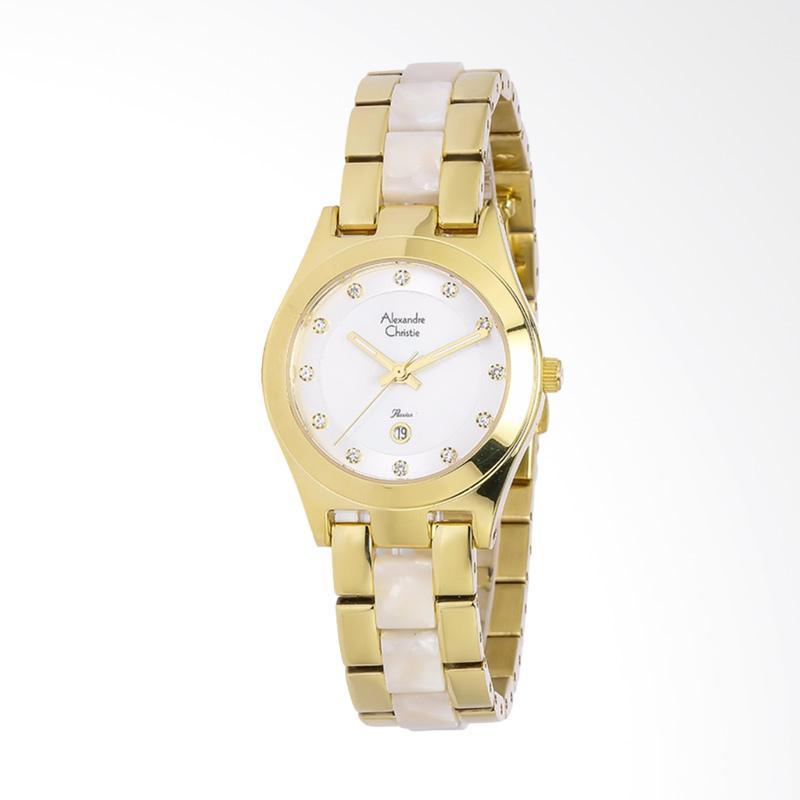 Alexandre Christie ACF-2477-LDBGPMSSL Ladies Passion Dual tone Stainless Steel Jam Tangan Wanita - Gold