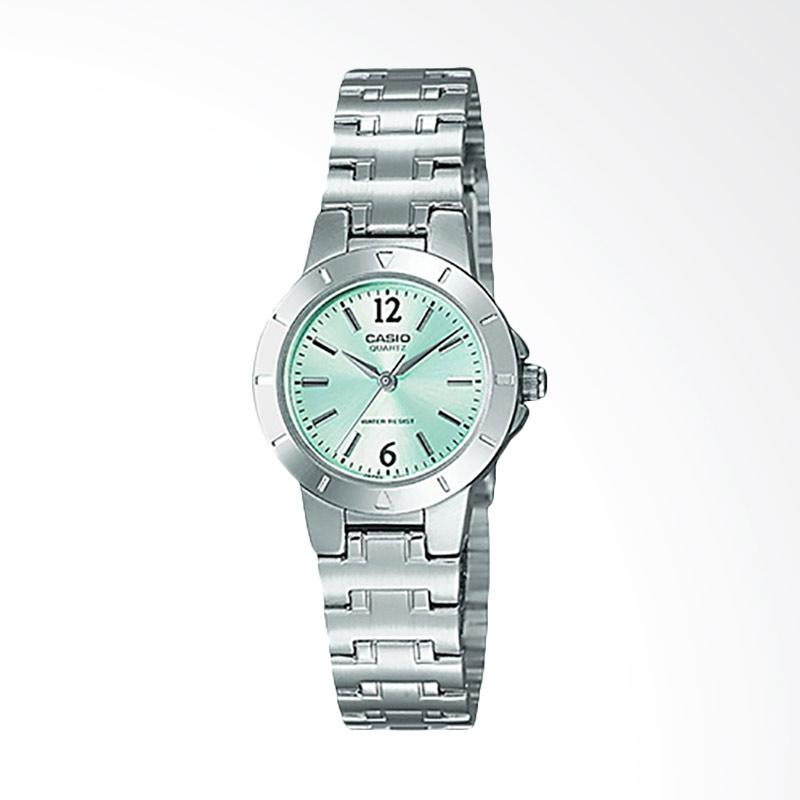 Casio Standard LTP-1177A-3ADF - Quartz Ladies Watch Stainless Steel Jam Tangan Wanita - Silver