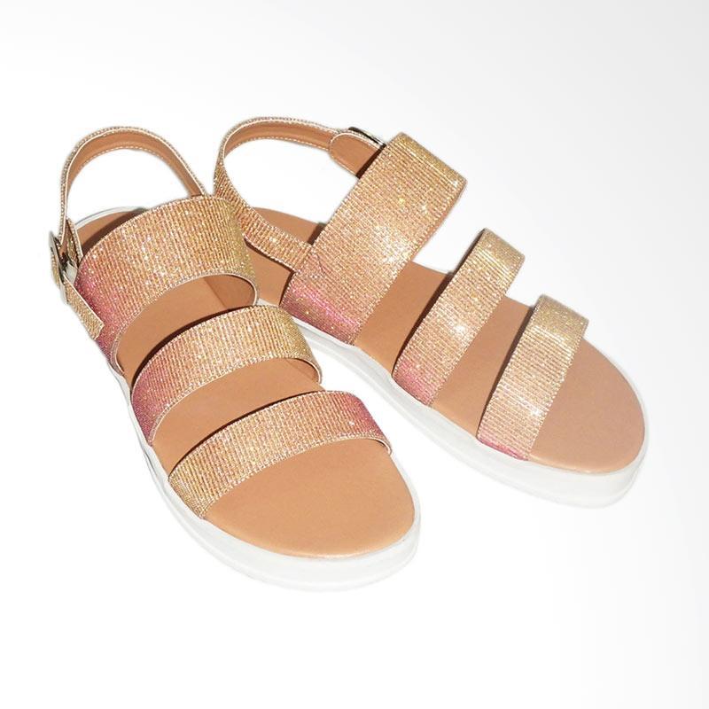 Anneliese Aurora Sandal Flat Wanita - Beige