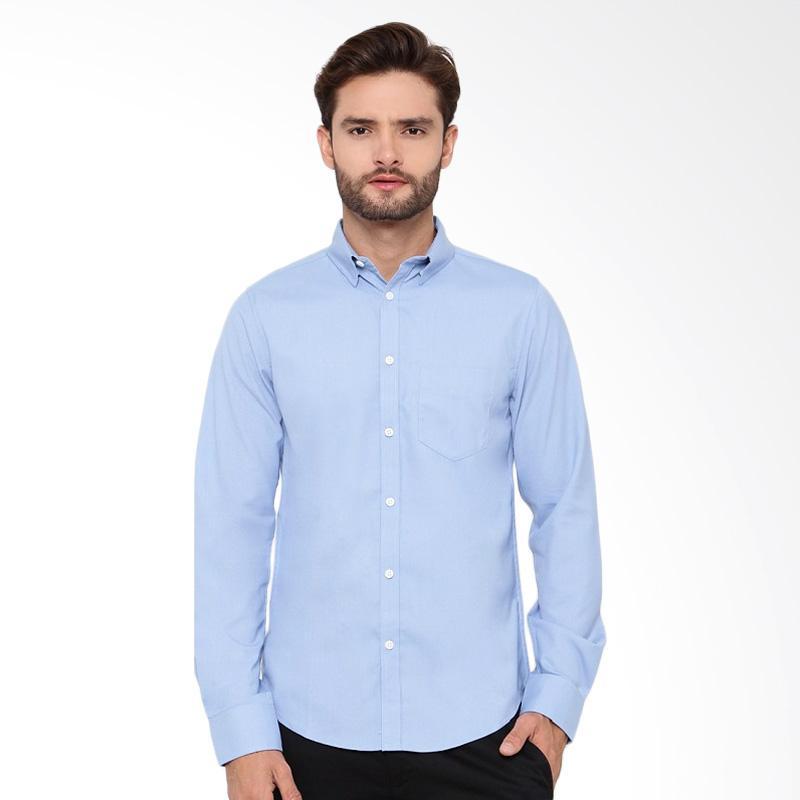 A&D Fashion Mens Shirt Long Sleeve - Blue Ms 932