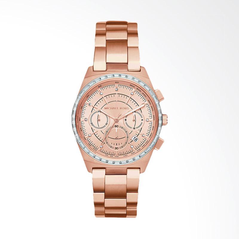 Michael Kors Vail Chronograph MK6422 Jam Tangan Wanita - Rose Gold
