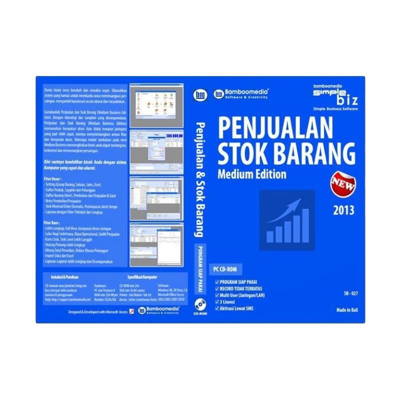 Bamboomedia Penjualan & Stok Barang Medium Edition New Software