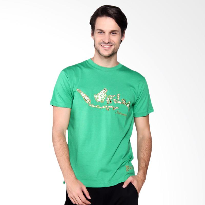 Batik Heritage Indonesia T-Shirt Kaos Pria - Green