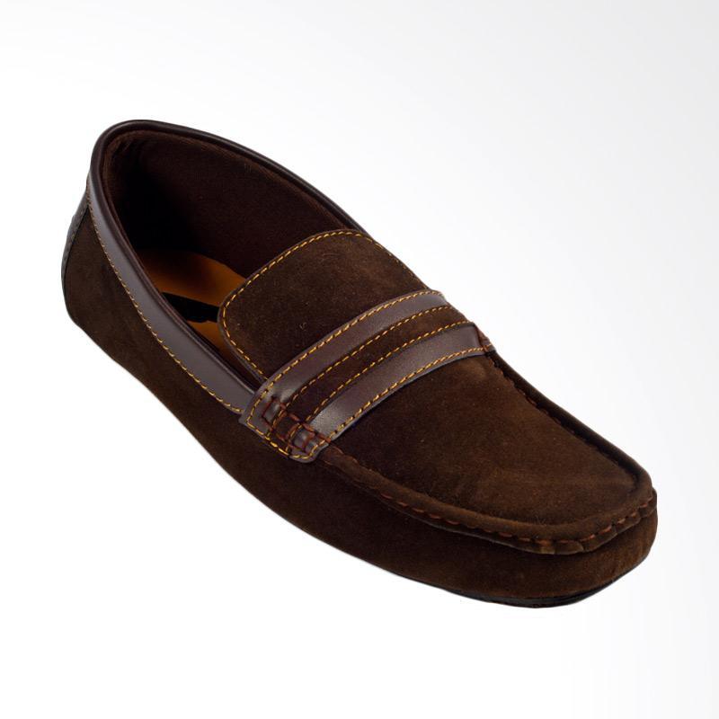 Moccasin Trumph Alpha Slip On Sepatu Pria - Brown