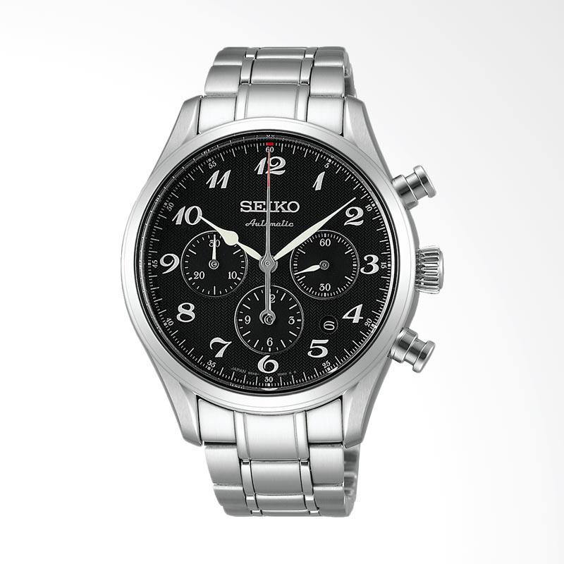 Seiko Presage Automatic Chronograph Jam Tangan Pria - Silver SARK009