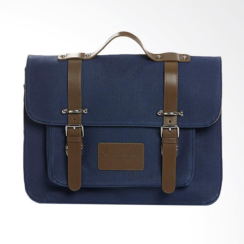Amore Daniel Victor - Vintage Briefcase - Navy Blue