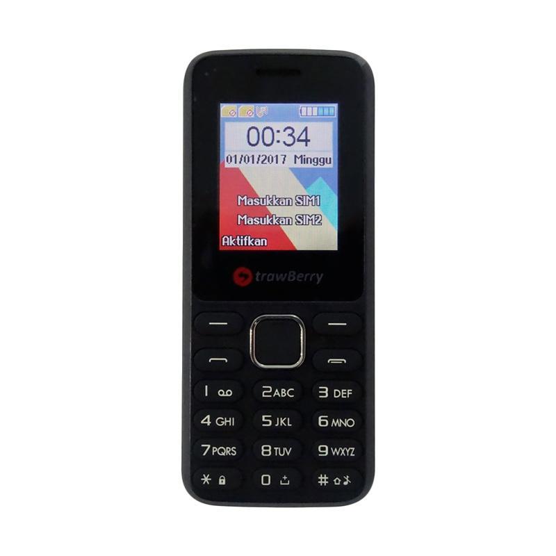 Strawberry S805 KGTEL Candybar Handphone - Black [Dual SIM GSM]