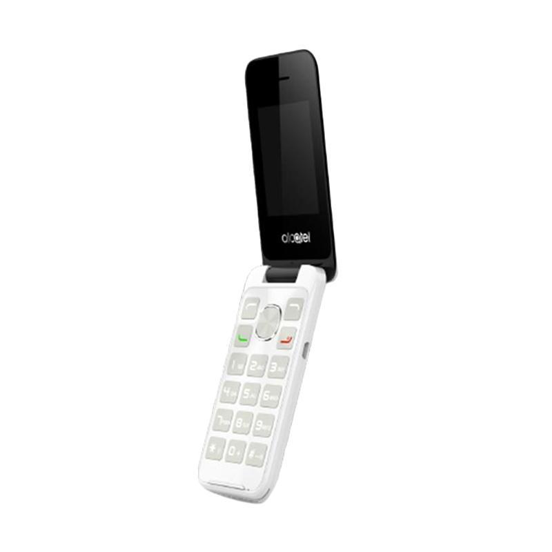 Alcatel 2051 Flip Handphone - Pure White [Dual SIM]