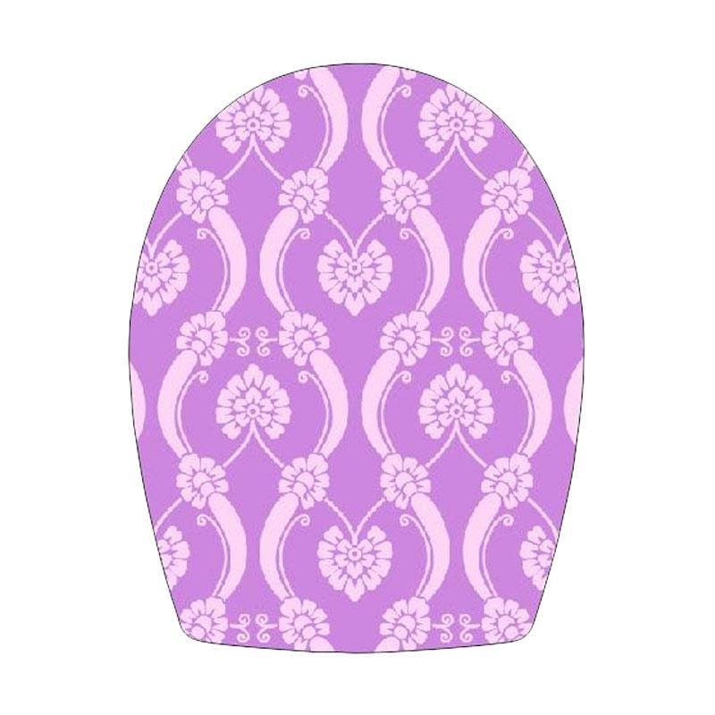 Epinidithouse Shabby Batik Toilet Cover Sticker - Ungu