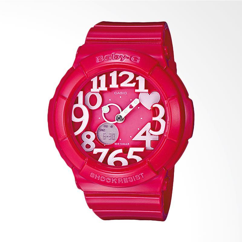 Casio Baby-G BGA-130-4BDR Neon Illuminator Water Resistant 100M Resin Band Jam Tangan Wanita - Red