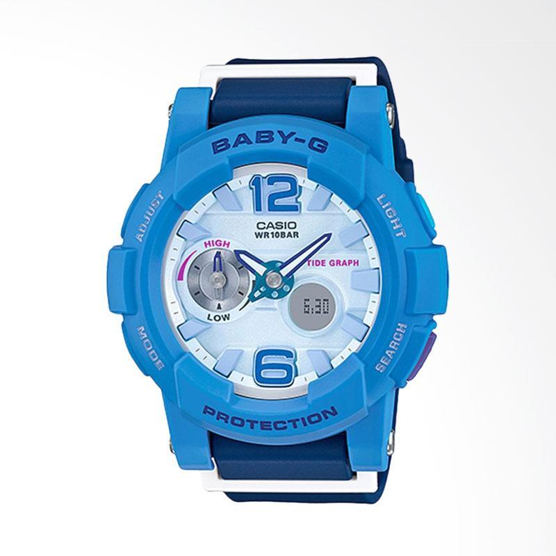 CASIO Baby-G BGA-180-2B3DR Resin Band Jam Tangan Wanita - Blue