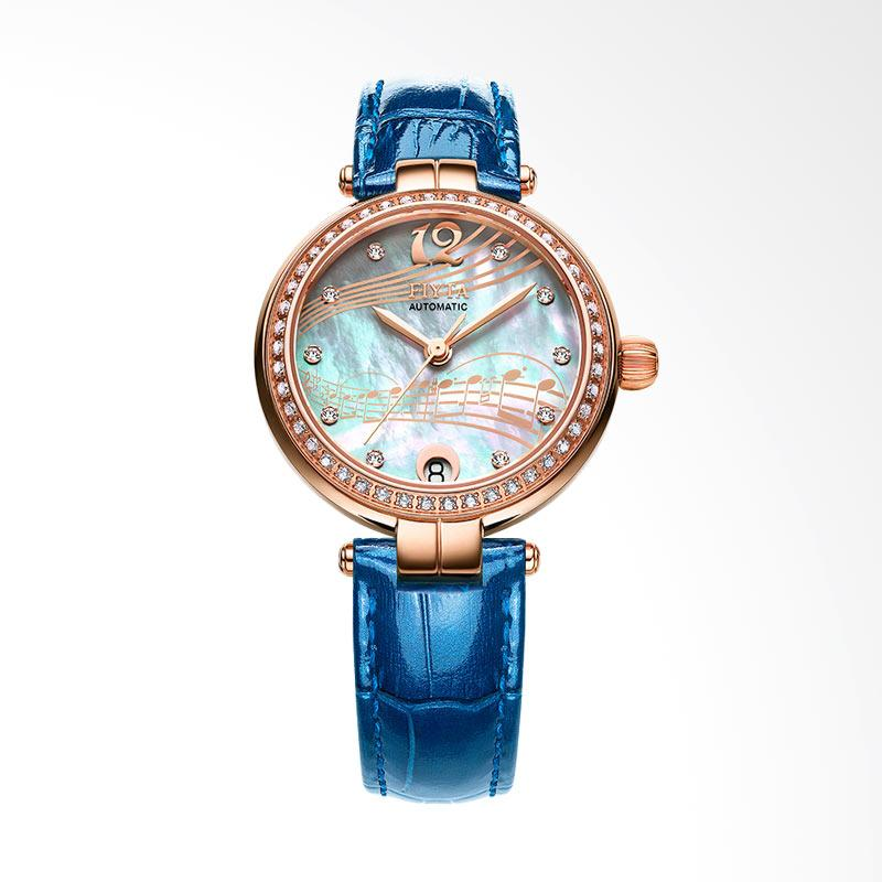 FIYTA LA869002.PWLD Ladies Heartstrings Series Leather Jam Tangan Wanita - Blue