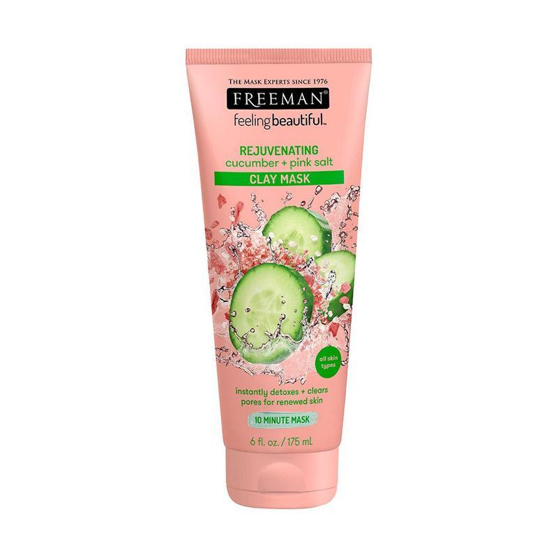 Freeman Facial Cucumber + Pink Salt Clay Mask [6 Ounce]