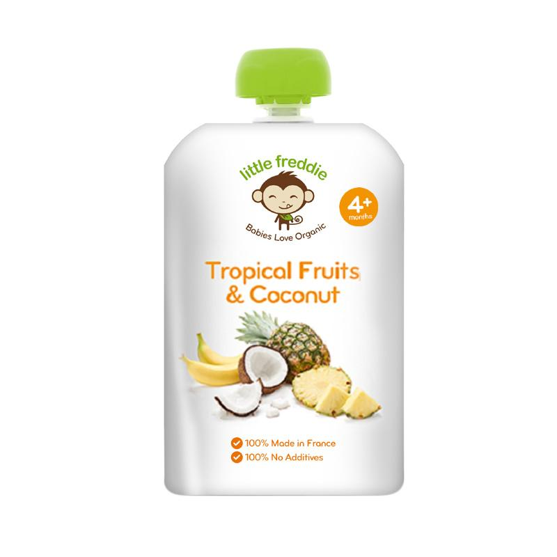 Little Freddie Baby Organic Food Tropical Fruits & Coconut Snack Bayi [90 g/Made In UK]