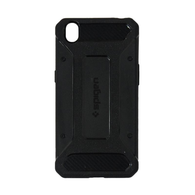 Spigen Rugged Capsule with Carbon Fiber Textures Softcase Casing for Oppo A37 or Neo 9 - Black