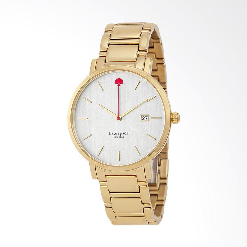 Kate Spade 1YRU0009 New York Gramercy Stainless Steel Watch Jam Tangan Wanita - Gold Grand Pearl
