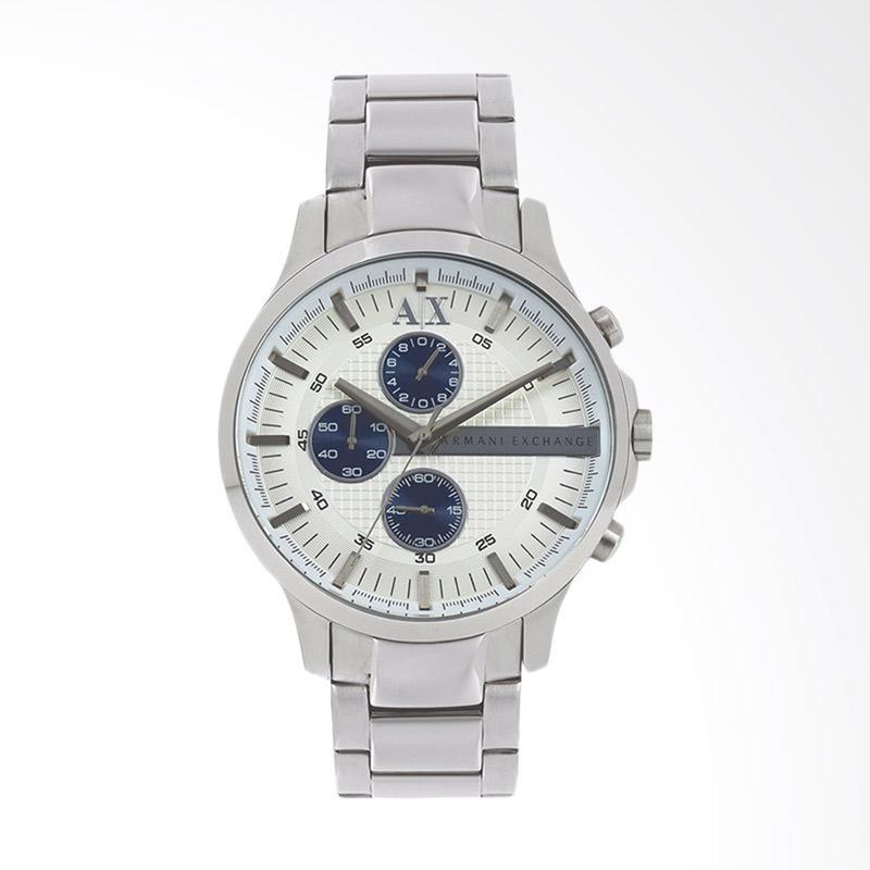 Armani Exchange Chronograph Silver Dial Silver Stainless Steel Jam Tangan Pria - Silver AX2136