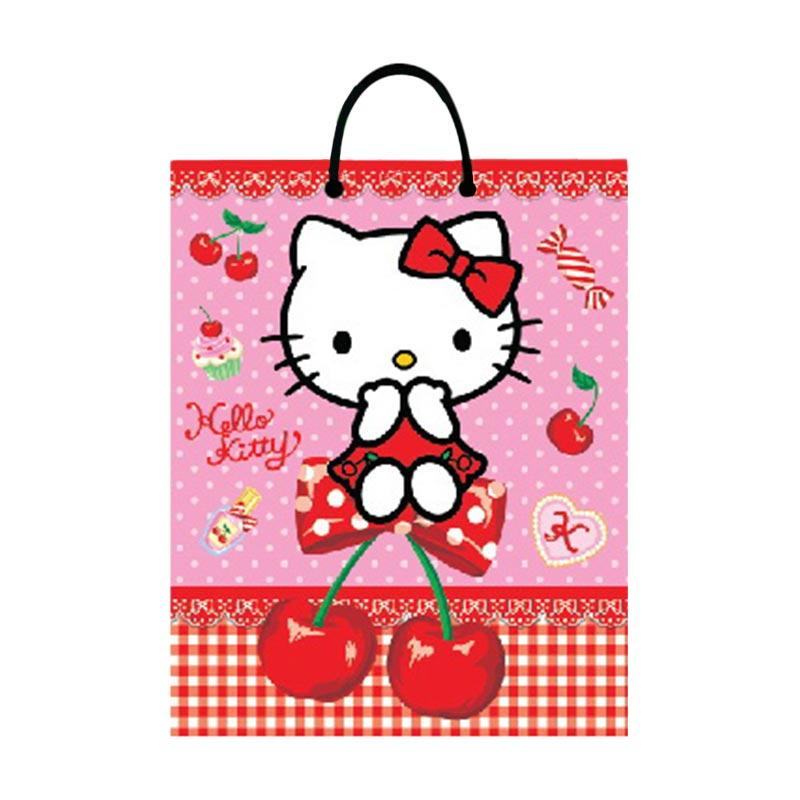 Buy 1 Get 1 - Something Sweet BA 3326-KT001-SS Hello Kitty I love Cherry Pink Paper Bag [Large SS]
