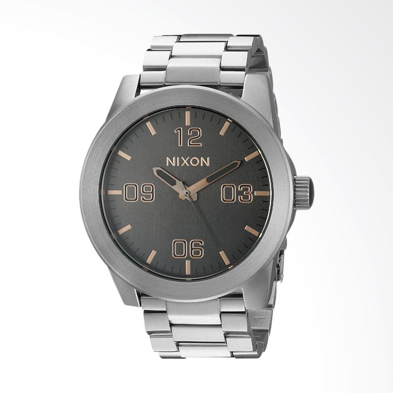 Nixon Grey Dial Corporal Stainless Steel 48mm Jam Tangan Pria A3462064