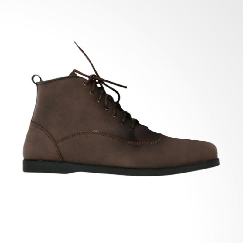 harga Frandeli Lace-Up Klasik Original Sepatu Boots Pria - Dark Brown Blibli.com