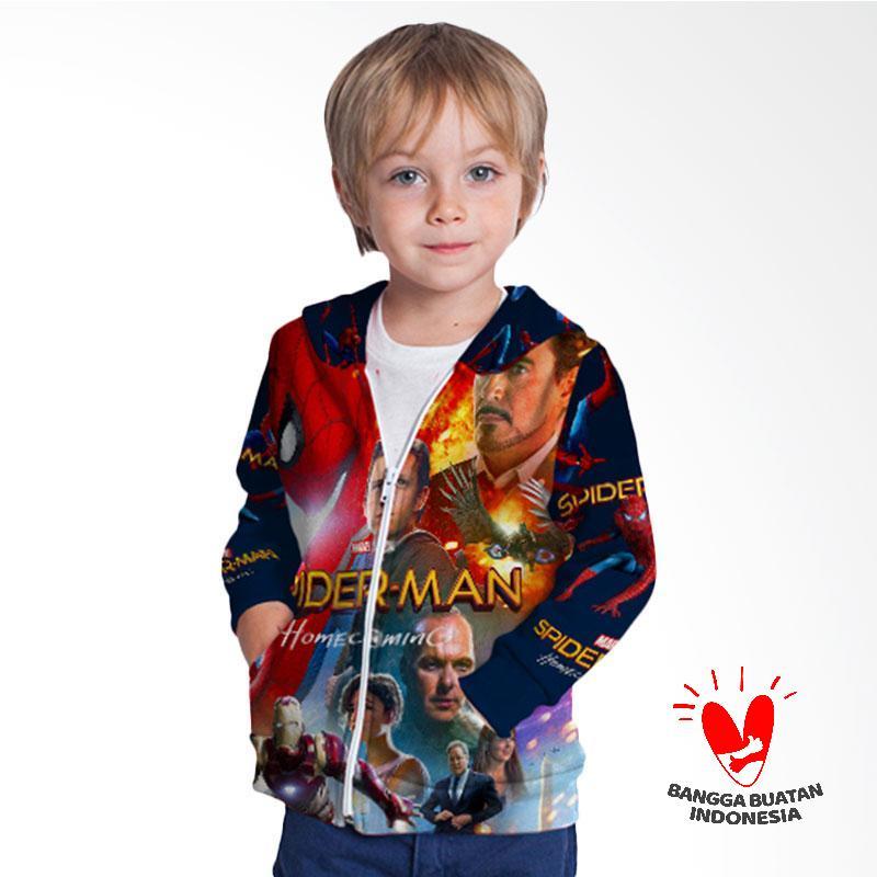 harga Fika Unisex Tema Spider-Man Homecoming 3D Full Print Sublimation Model Zipper Art 2 Jaket Hoodie Sweater Anak - Multicolor Blibli.com