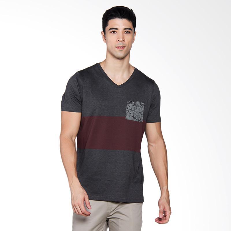 Famo 1004 T-shirt Pria - Grey [510041712]