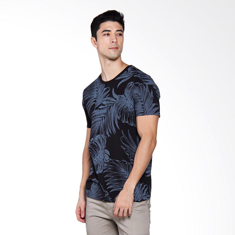 Famo 2804 T-shirt Pria - Black [528041712]