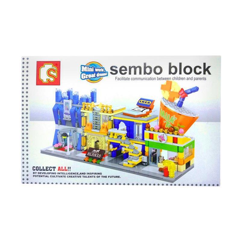 Sembo IKO00852 Ikea City Building Mini Block