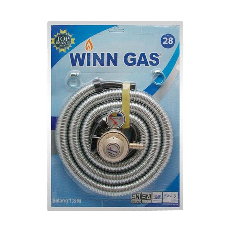 Winn Gas Paket Selang Regulator Gas - Silver [1.8 m/Original/Garansi Resmi]