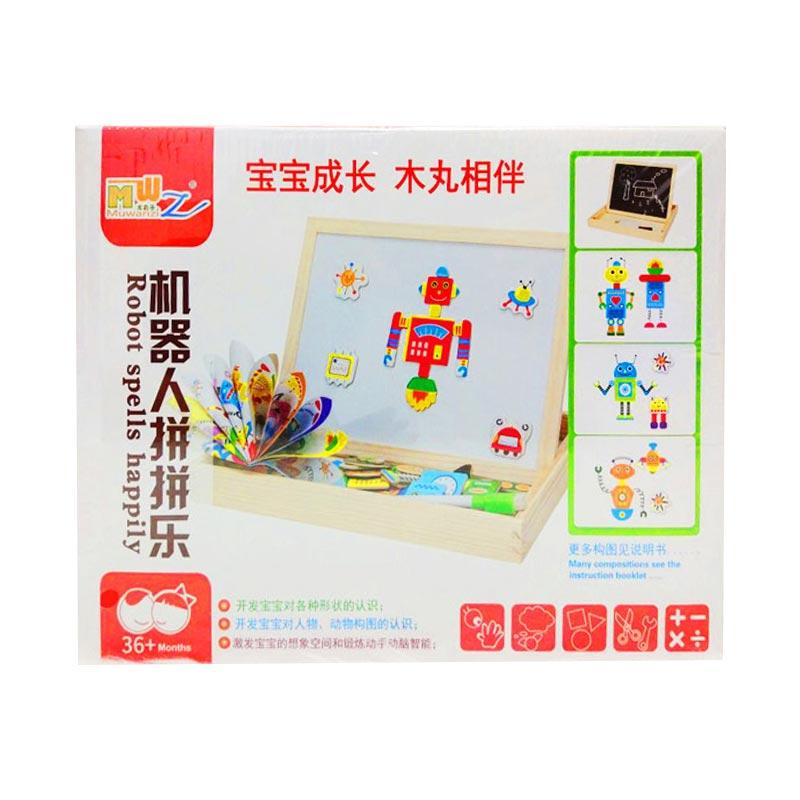 Istana kado Insert Magical Puzzle Robot IKO00858 Mainan Edukasi