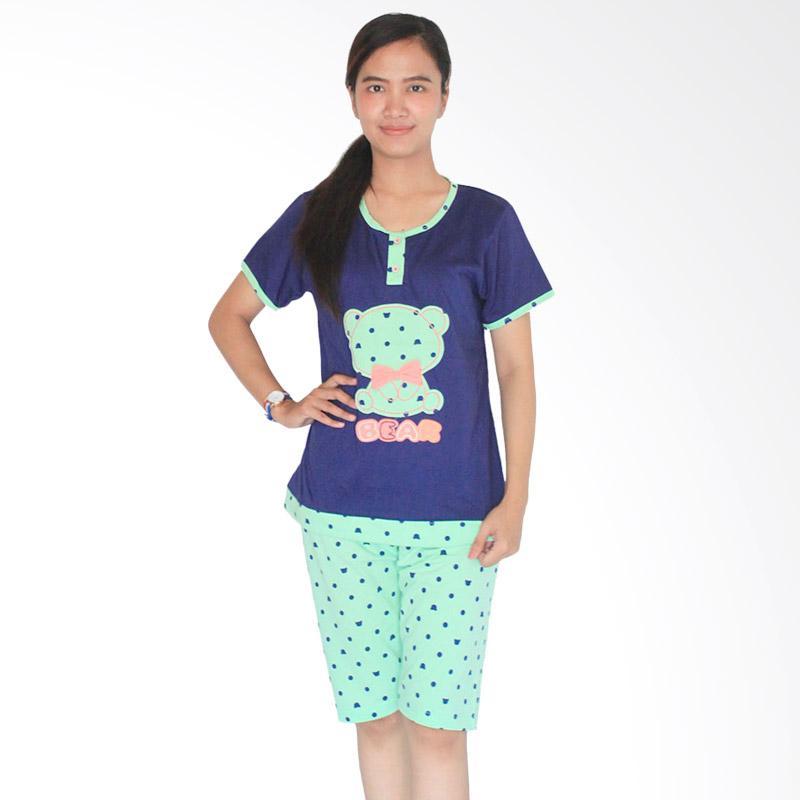 Aily 462 Celana Pendek Setelan Baju Tidur Wanita  - Hijau