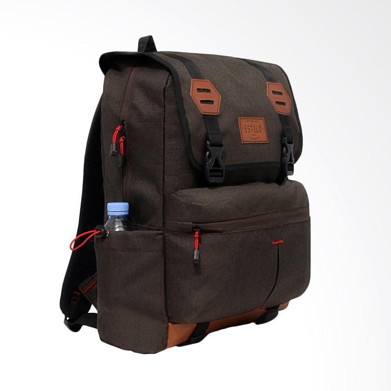 Carion Vintage Backpack Tas Ransel Pria - Coklat
