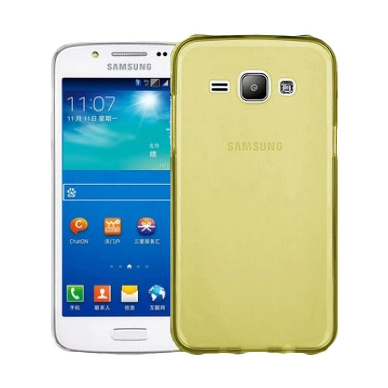 Ume Ultrathin Silicone Jellycase Softcase Casing for Samsung Galaxy J1 J100F - Kuning