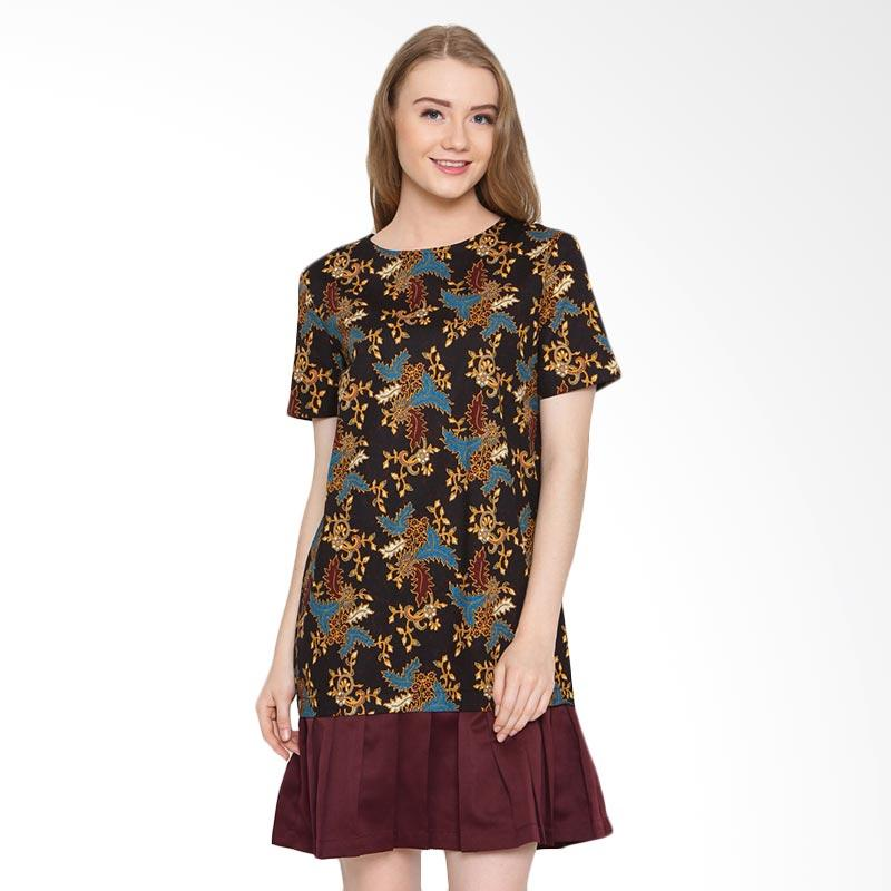 A&D Fashion Ms 981 Ladeis Dress Batik - Brown