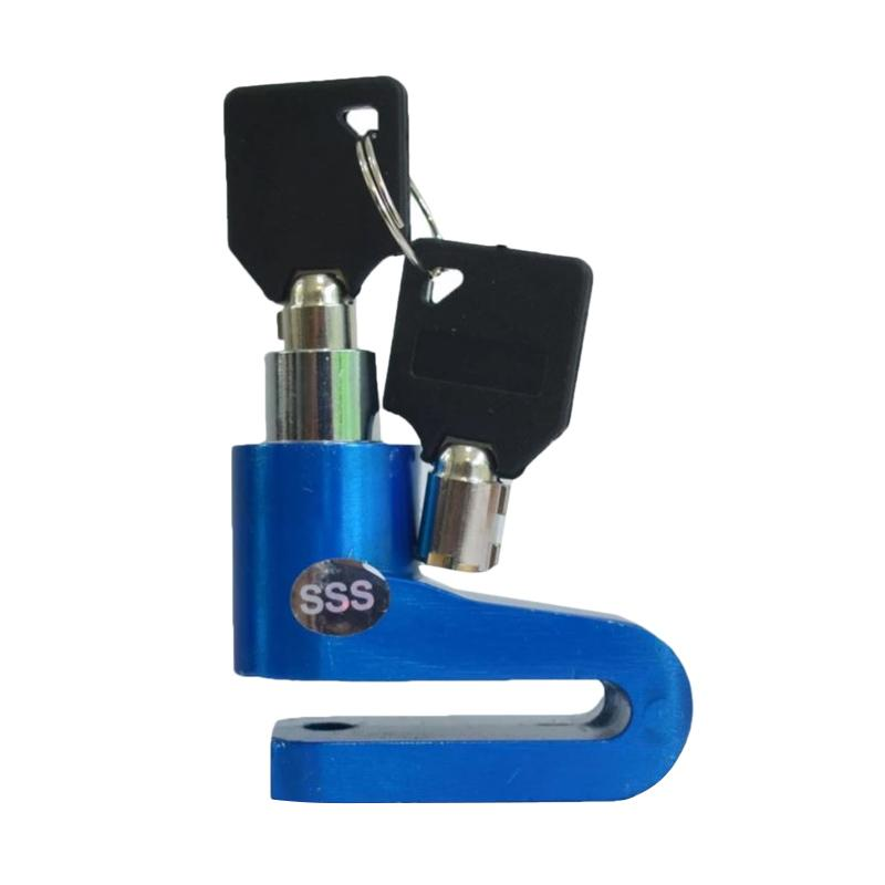 Raja Motor Disc Brake Lock Footpeg CNC Kunci Cakram - Biru [KUD9007-Biru2]