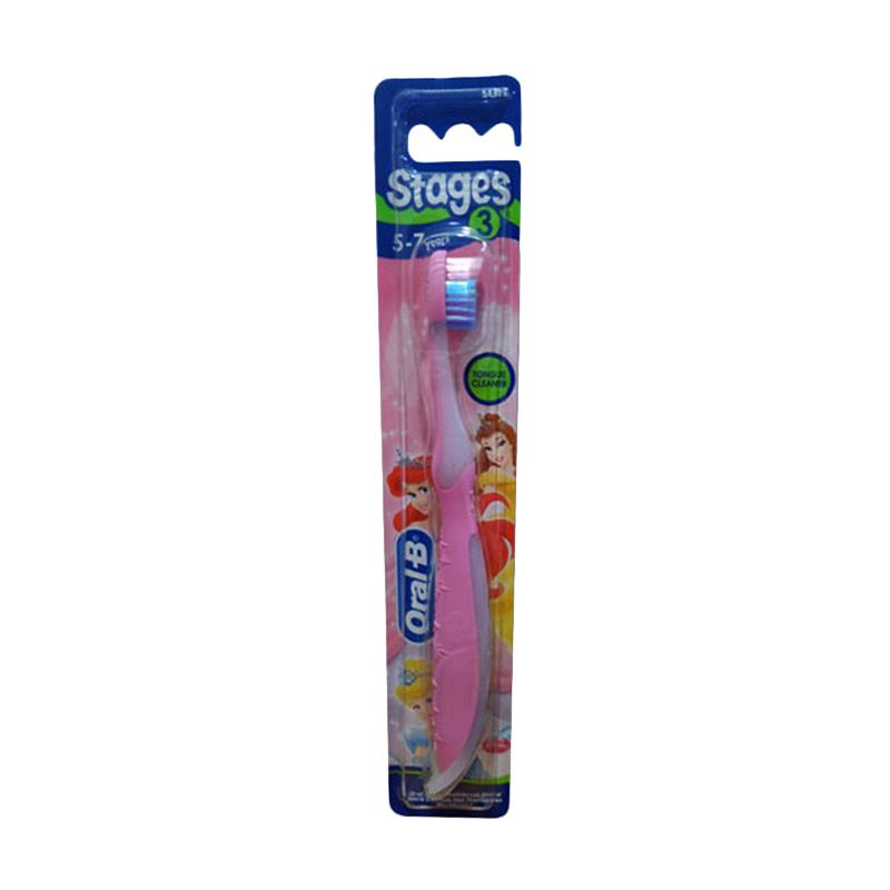Oral B Stages 3 Tongue Cleaner Sikat Gigi  5-7 Years  Pink 0e8ad0e73b