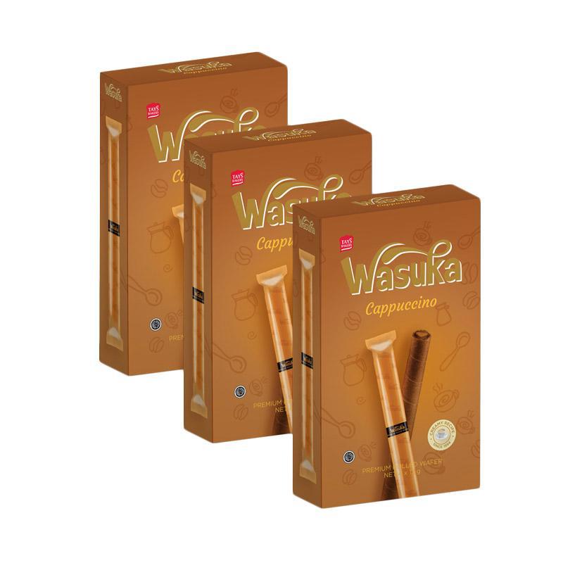 Wasuka Roll Cappuccino Wafer [3 box]