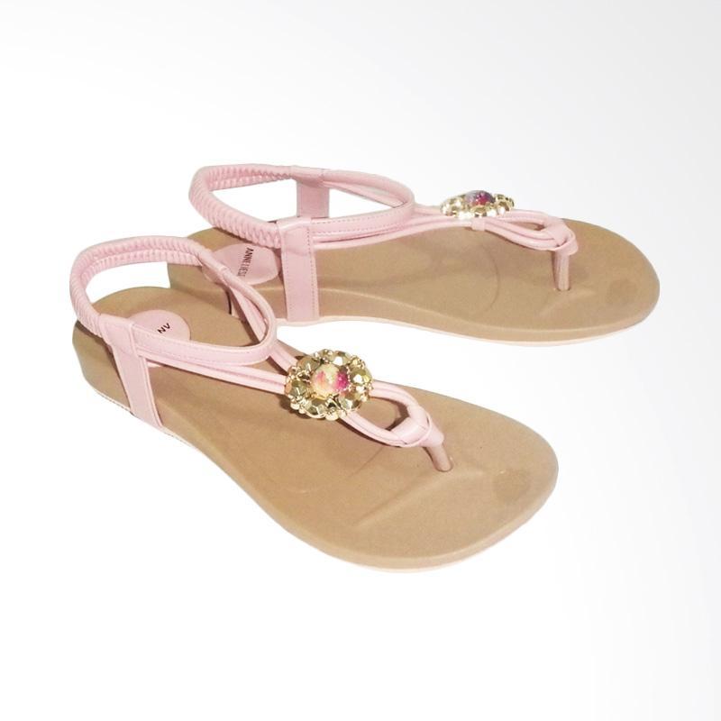 Anneliese ai 02 Sandal Flat Wanita - Salem
