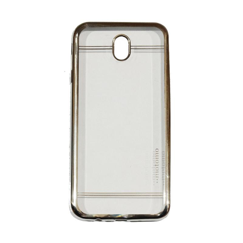 Motomo Luxury Shining Chrome Ultrathin Silicone Softcase Casing for Samsung Galaxy J5 Pro 2017 or J530 - Silver