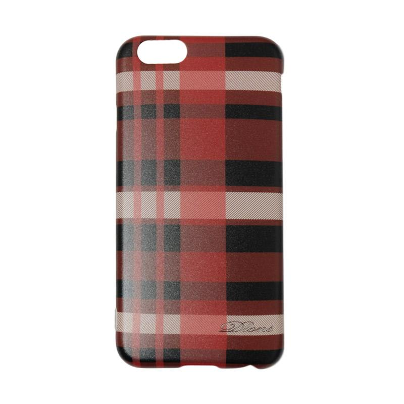 QCF Softcase Square Line British Style Casing Motif Kotak-Kotak for Apple iPhone 6 / iPhone 6G / iPhone 6S Ukuran 4.7 Inch - Merah