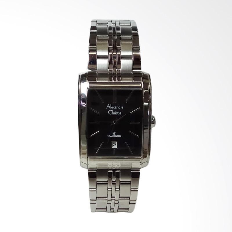 harga Alexandre Christie Classic Stainless Steel Jam Tangan Pria - Silver Black [AC8408MD] Blibli.com