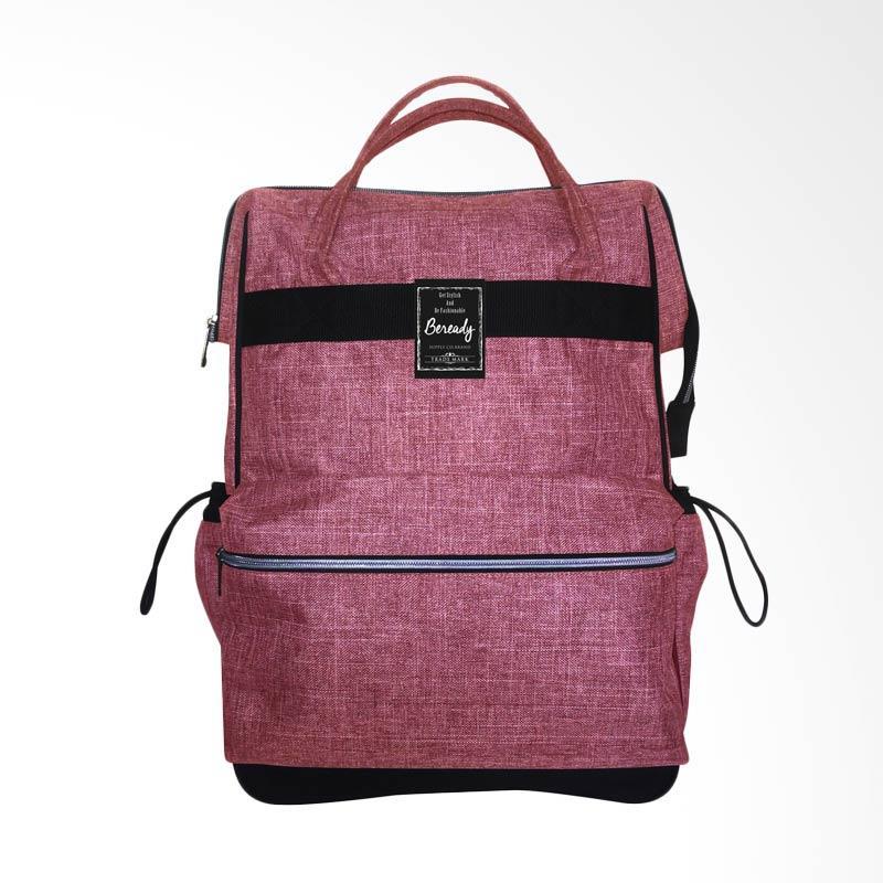 BEREADY BP 5014 Backpack Tas Wanita - Maroon