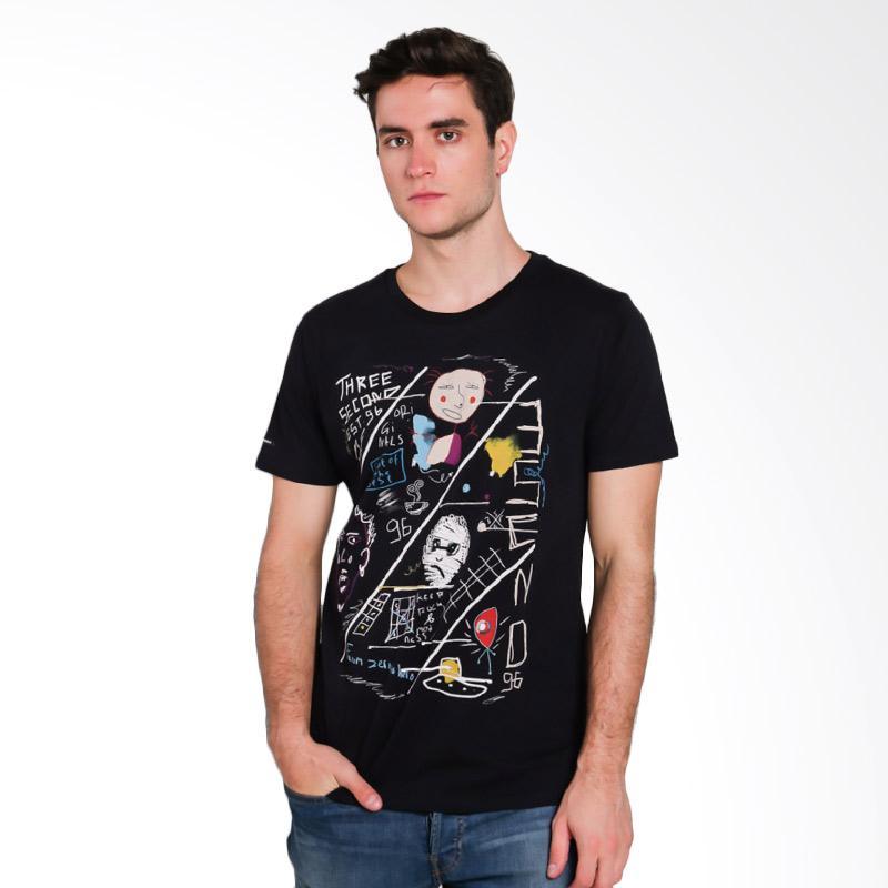 3SECOND Men T-shirt Atasan Pria - Black