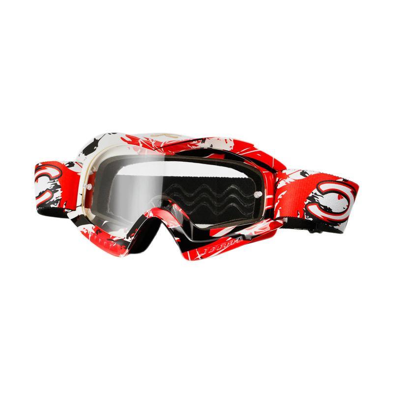 Xforce® Raider-OTG Moto Cross Goggle - Red White
