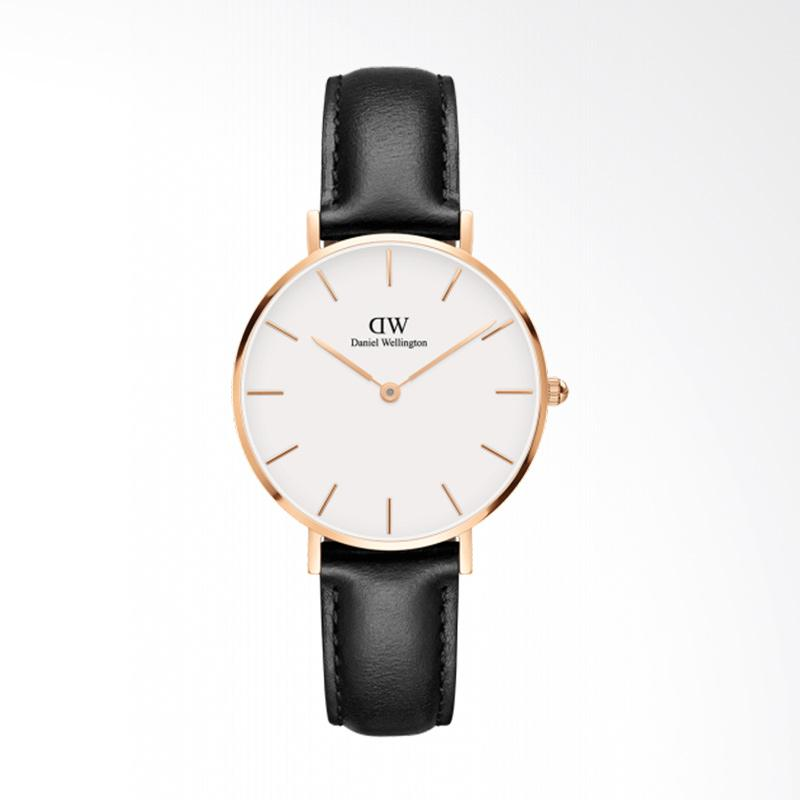 Daniel Wellington Classic Petite Sheffield Leather Strap Jam Tangan Wanita - Rose Gold [32 mm]