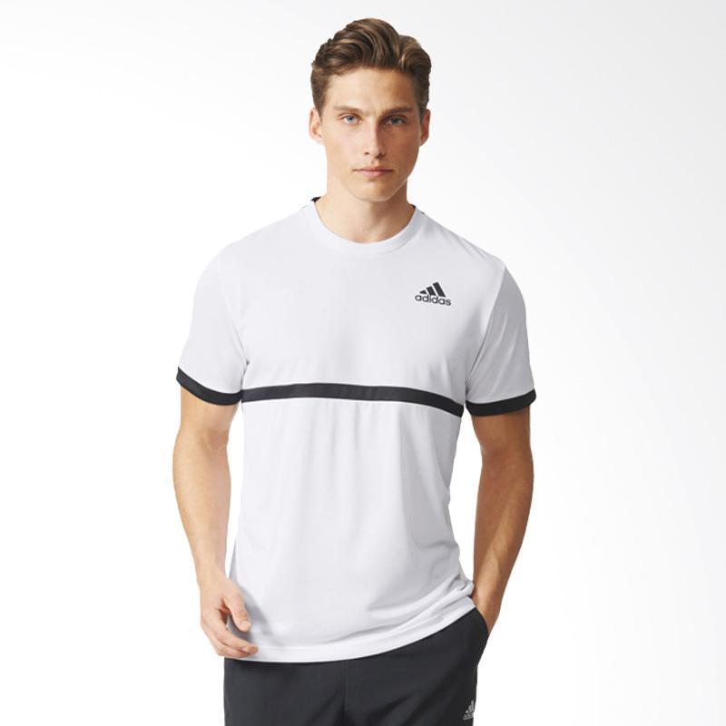 harga adidas Originals Court Tee Kaos Olahraga Pria - White Black [Al0746] Blibli.com