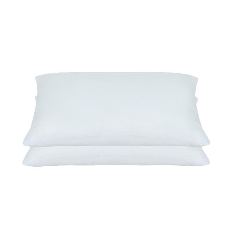 Tren-D-home Polos Set Sarung Bantal Tidur - Putih Pastel Series [50 x 70 cm/2 pcs]